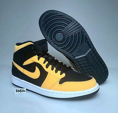 296f89864f8d28 Air Jordan Retro 1 Mid Reverse New Love Black University Gold Yellow 554724  071