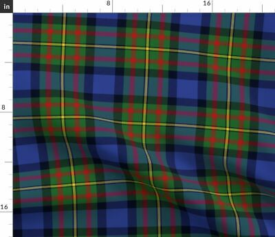 Maclaren Tartan Plaid Scottish Blue Fabric Printed by Spoonflower BTY