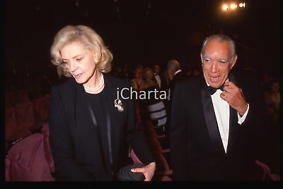 35mm vintage slide* 1990 Festival CANNES - Lauren BACALL e Anthony QUINN (3)