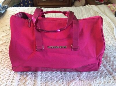 0f4ff45d4359 VICTORIA S SECRET HOT Pink Canvas Weekender Duffle Bag