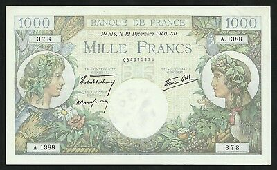 1000 Francs Commerce et Industrie (19-12-1940) SPL