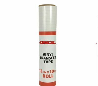 """Oracal 12"""" X 10' ft. Roll CLEAR Transfer Tape w/ Grid for Craft Vinyl adhesive"""