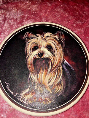 yorkshire terrier Yorkie Coaster Set Of 4, Coasterstone, So Cute, New