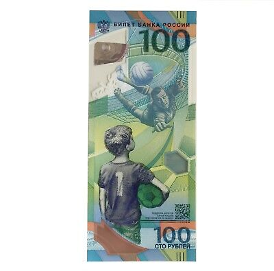 100 Rubles UNC FIFA 2018 Football World Cup Russia Polymer Rubel WM Russland new