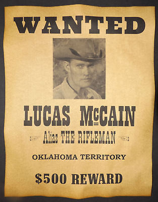 Lucas McCain, The Rifleman, Wanted Poster, Wyoming Story