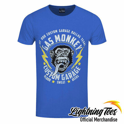 Official Gas Monkey Garage GMG Lightning Bolts Fast N Loud T-Shirt