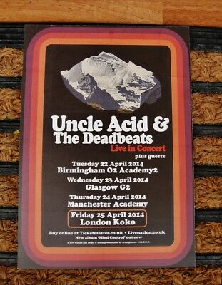 Uncle Acid And The Deadbeats - Flyer - 2014 - Live In Concert