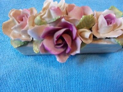 Antique Vintage Staffordshire Pink Roses Bouquet Fine Bone China Made in England