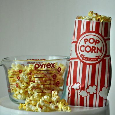Paper Popcorn Bags 1 oz, Red White, Pack Of 100 New Free Shipping!!