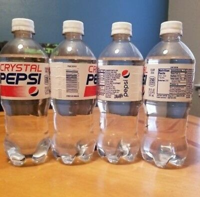 Crystal Pepsi Factory Sealed *20 fl.oz. Bottle* *Limited Release* *Discontinued*
