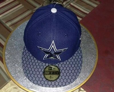 Men s Dallas Cowboys New Era Navy 2017 Sideline Official 59Fifty Fitted Hats f2d50b599315