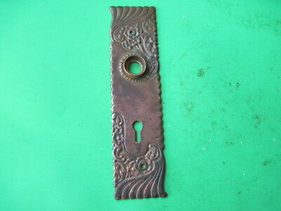 Antique Fancy Ornate Victorian Eastlake Style Brass Bronze Door Knob Back Plate
