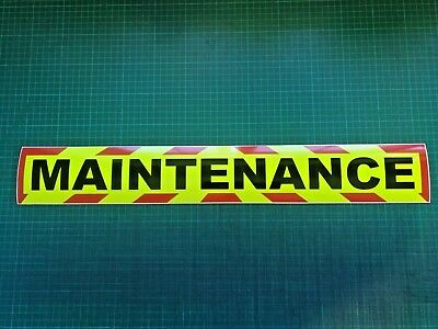 MAINTENANCE MAGNET MAGNETIC HIGHWAY Vehicle Trailer CHEVRON Towing GARAGE x1