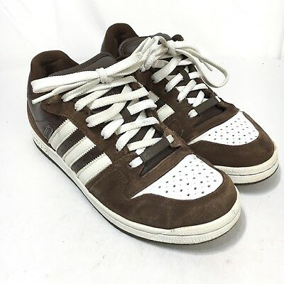 new concept 00e06 c56f4 ... new 633c3 Adidas Comptown St Mens 8.5 Brown White Suede Leather Lace Up Skateboard  Shoes 08577 ...