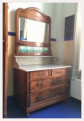 Art Nouveau Dresser | Vanity | coiffeuse with Mirror and side-Drawers