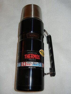 Genuine Thermos 40 oz Dual Purpose Wide Mouth Food or Beverage Hot Cold 24 Hours
