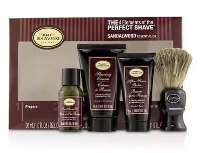 The Art Of Shaving The 4 Elements of the Perfect Shave Mid-Size Kit Sandalwood