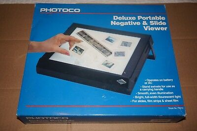 Photoco Deluxe Portable Negative & Slide Viewer  Model: 837D