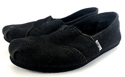 Toms Women s 8 Shoes Black Slip on Flats Shoes Ladies Sneakers Comfort Style b4a8bf99933d