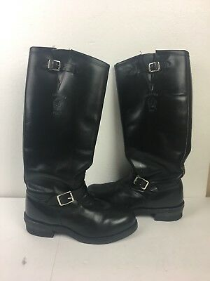 593419df4a7 CHIPPEWA MEN'S STEEL Toe Motorcycle Black Leather Boots USA Made 71418 Size  10 D