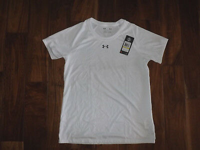 NWT Womens Under Armour White Loose Fit Heat Gear Shirt Size M Medium