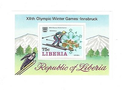 STAMP SHEET mint INNSBRUCK WINTER OLYMPIC GAMES LIBERIA