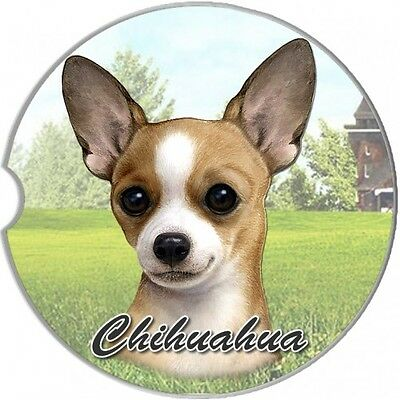 Chihuahua Tan Sandstone Absorbent Dog Breed Car Coaster
