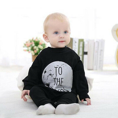 Baby Cotton Letter Printed Jumpers Toddler Romper Kids Long Sleeve One-pieces