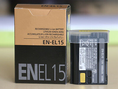 New EN-EL15  Rechargeable Battery For Nikon D600 D610 D800 D810 D7000 D750 MH-25
