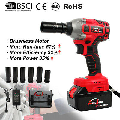 "Power Tool 20V Impact Wrench Brushless Cordless 2"" Rattle gun High Torque 18V"
