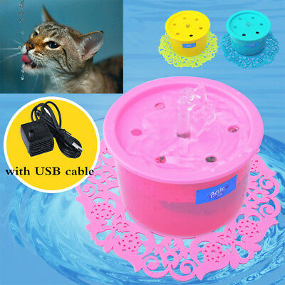 Electric Automatic Pet Water Fountain Dog/Cat Drinking Filter Bowl Fountain