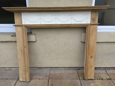 Solid wooden/pine fire place surround Vintage Victorian Stripped Pine Rustic