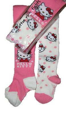 Brand New Pk of 2 Baby Girls Hello Kitty Tights Exstore RRP £7.00 No Packaging