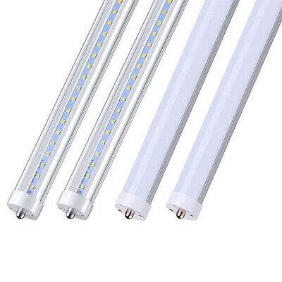 25 Pack 8FT LED Tube Light Bulbs 6000K Single Pin FA8 Base 8 Foot 45W 25 Sets