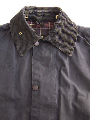 Barbour A205 Border Wax Jacket C40 102cm Medium Blue Vintage BBt161 #