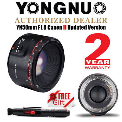 2018 New Yongnuo YN 50mm F 1.8 II AF Fixed Lens for Canon + Cleaning Pen UK