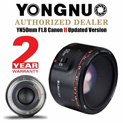 Updated Version Yongnuo YN 50mm F 1.8 II AF MF Prime Fixed Lens for Canon UK