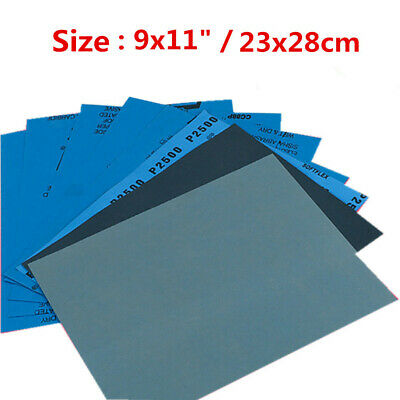 10pcs Wet Dry Sandpaper 1000 3000 4000 5000 Grit Silicon Carbide Abrasive Paper