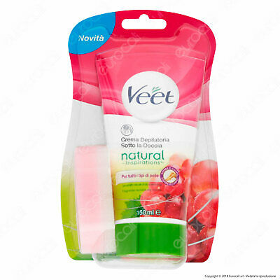 Veet Crema Depilatoria Sotto la Doccia Natural Inspiration Silk & Fresh - 150 ml