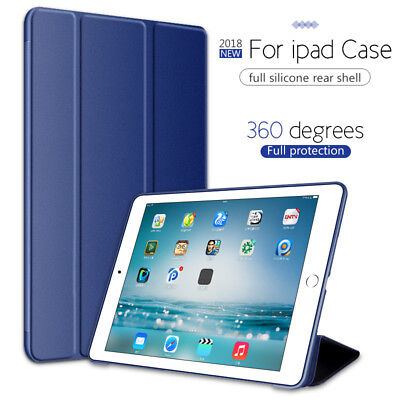 """For Apple iPad 6th Generation 2018 9.7"""" Slim Silicone Magnetic Smart Cover Case"""