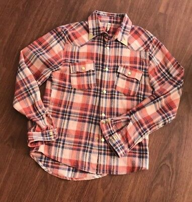 Spell and the Gypsy Red Lost Highway Flannel Shirt Top - M