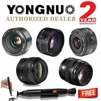 Yongnuo YN50mm II YN35mm YN85mm YN100mm EF Auto Focus Fixed Lens for Canon AU