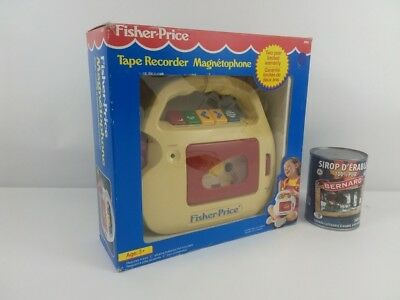 Vintage 1992 Fisher Price Tape Recorder Cassette Model #3800 Microphone With Box
