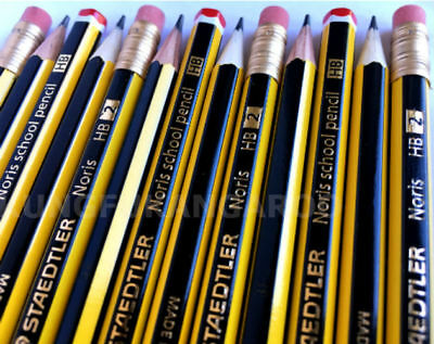 Staedtler Hb & Hb2 Eraser Tip Pencils Drawing Sketching School Art Joiner