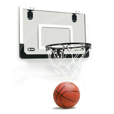 Mini Basketball Hoop With Ball 18 inch x12 inch Shatterproof Backboard A7M9