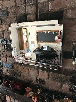 Vintage Mirror art deco beveled edged frameless wall mirror Deer Mirror French