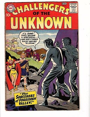 Challengers Of Unknown  #6 Dc 1958 Vg Kirby/wood Classic Hard To Find Rare