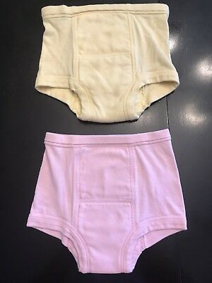 Hanna Andersson two pairs of training underwear - yellow & pink - size 100/110