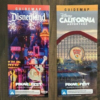 Disneyland / DCA California Adventure July - Present 2018 Park Maps and Guide
