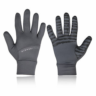 Higher State Unisex Running Gloves Grey Sports Breathable Reflective